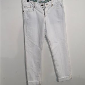 White Distressed Joes Jeans size 27